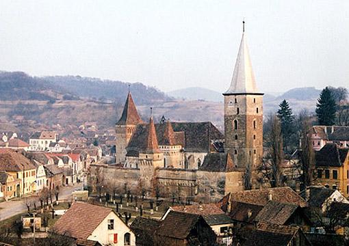 Meschen, mittelalterliche Festung versteckt im Herzen von Siebenbürgen