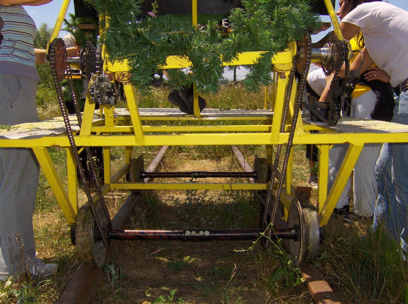 Auf den Spuren der alten Schmalspurbahn. Abenteuer mit der Fahrrad Draisine