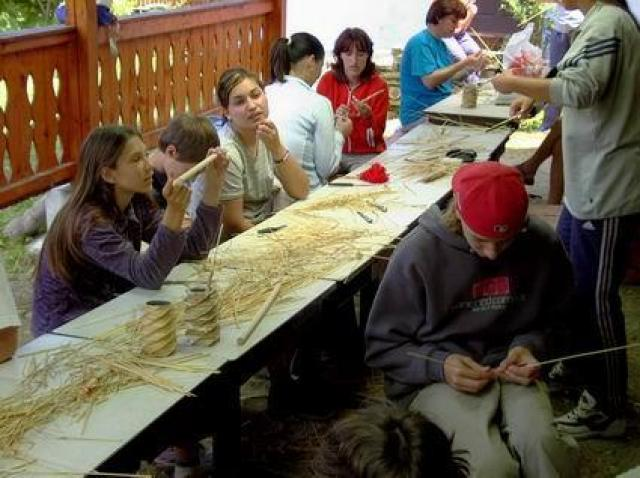 Museum der Strohhüten aus Criseni mit dem grössten Hut des Landes