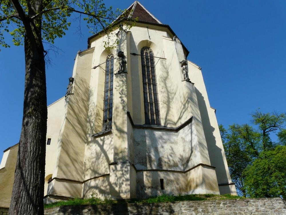 Die Kirche vom Hügel, in Schässburg