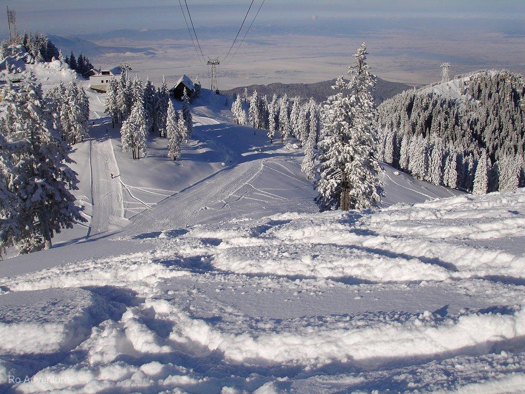 Ski in Transylvania. Kreis Kronstadt