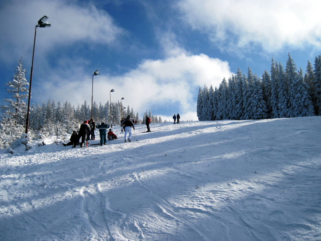 Ski in Transilvania. Judetul Sibiu