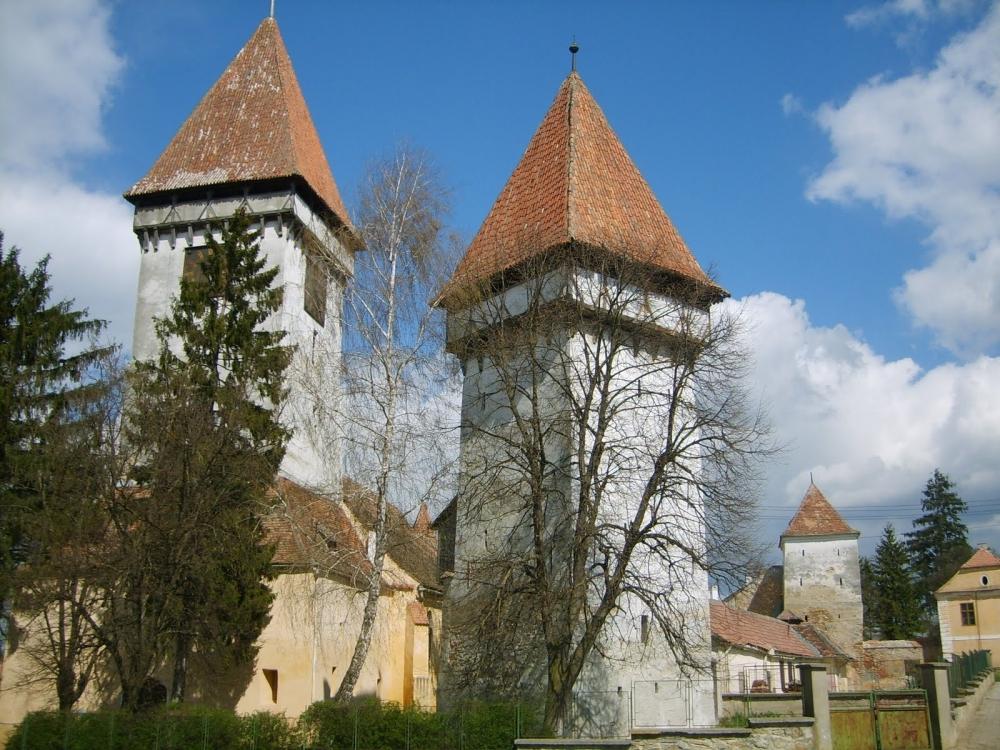 Der Töpfer Turm in der Harbacher Hauptstadt: Agnetheln