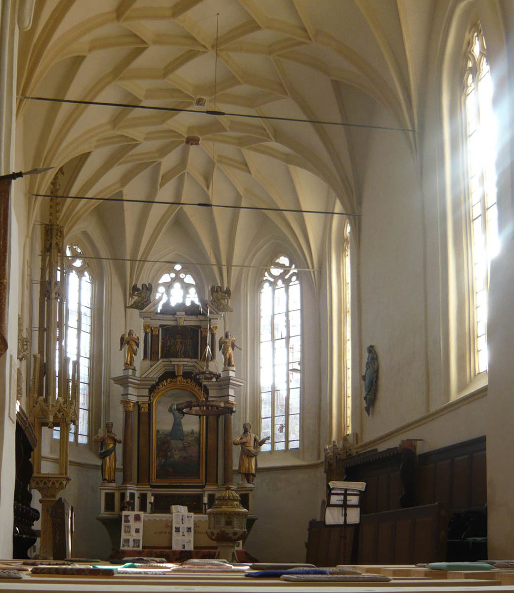 Meschen, die erste Wehrkirche aus Siebenbürgen die Prinz Charles besuchte