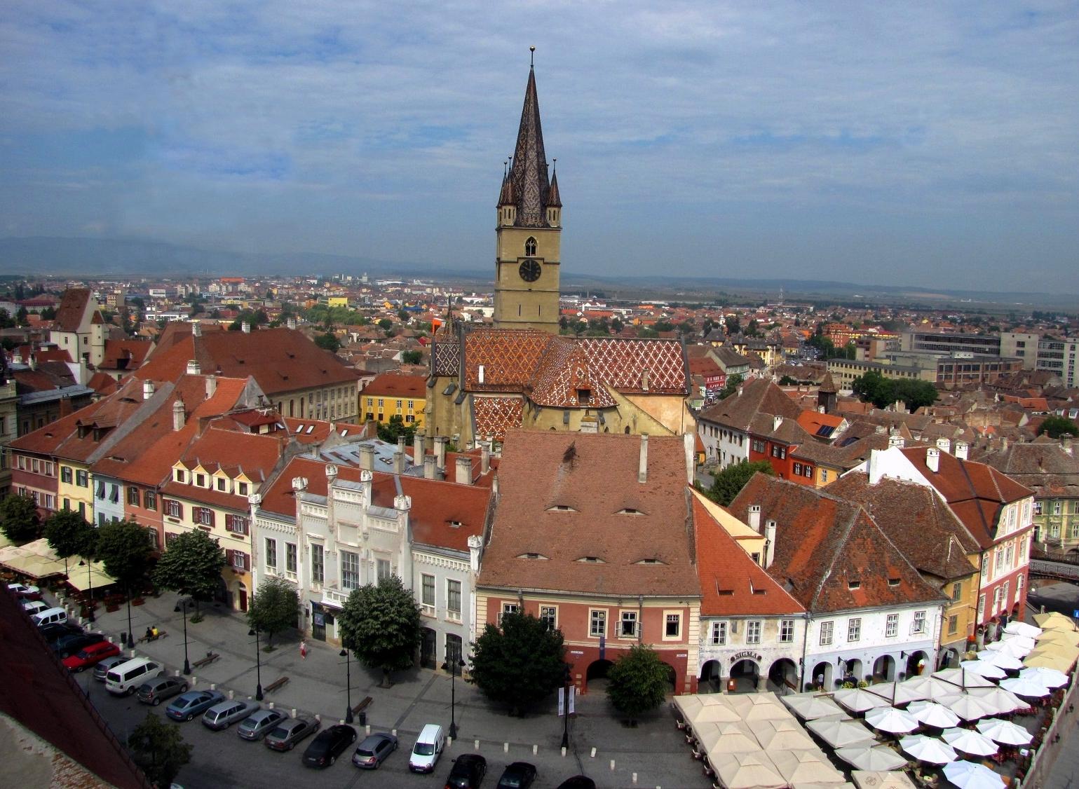 Der Huet Platz in Hermannstadt wo die Geschichte lebendig wird